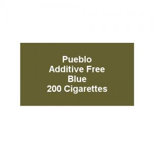 Pueblo Additive free Cigarettes - Classic Blue - 10 x Packs of 20 (200)