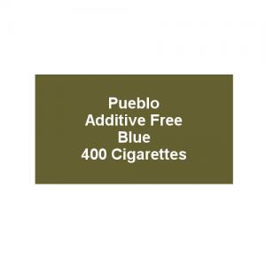 Pueblo Additive free Cigarettes - Classic Blue - 20 x Packs of 20 (400)