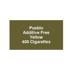 Pueblo Additive free Cigarettes - Yellow - 20 x Packs of 20 (400)