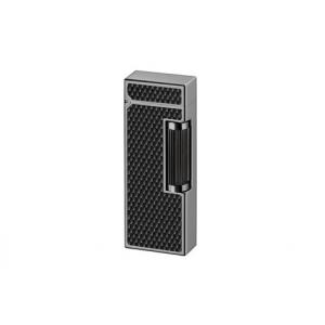 Dunhill - Diamond Pattern Black Resin Ruthenium Plated Rollagas Lighter