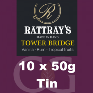 Rattrays Tower Bridge Pipe Tobacco 10x50g Tins