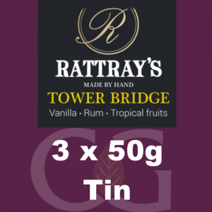 Rattrays Tower Bridge Pipe Tobacco 3x50g Tins