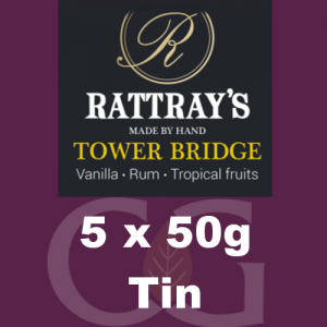 Rattrays Tower Bridge Pipe Tobacco 5x50g Tins