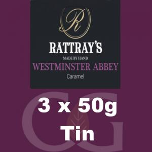 Rattrays Westminster Abbey Pipe Tobacco 3x50g Tins