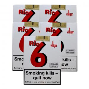 Villiger Rio 6 Cigar - 5 Packs of 5 (25)