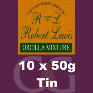 Robert Lewis Orcilla Mixture Pipe Tobacco 10x50g Tins