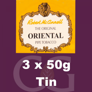 Robert McConnell Oriental Mixture Pipe Tobacco 3x50g Tins