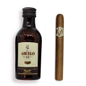 Intro to Pairing - AVO Classic Uvezian Purito + Ron Abuelo 12 Year Old Rum Mini