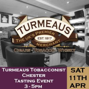 Turmeaus Chester Whisky & Cigar Tasting Event - 11/04/20