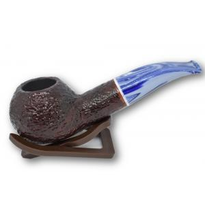 Savinelli Oceano Dark Rustic Apple Bent 320 Pipe (SAV154)