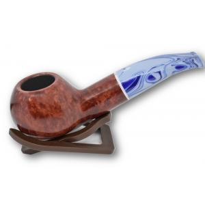Savinelli Oceano Burgundy Smooth Apple Bent 320 9mm Pipe (SAV155)