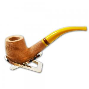 Savinelli Ghibli Rustic Natural Bent Billiard 606 6mm Pipe (SAV248)