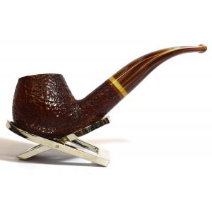 Savinelli Dolomiti 645 Rustic Light Brown 9mm Filter Fishtail Pipe (SAV356)
