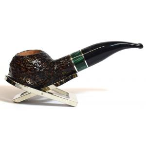 Savinelli Impero 321 Rustic Dark Brown Bent 6mm Filter Fishtail Pipe (SAV395)