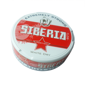 Odens Siberia -80 Degrees White Dry Portion Chewing Bag Tobacco Tin