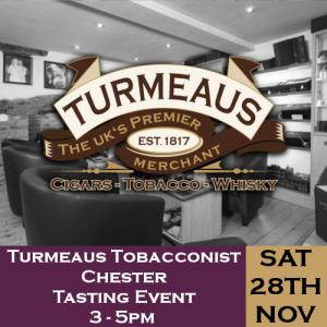 Turmeaus Chester Whisky & Cigar Tasting Event - 28/11/20