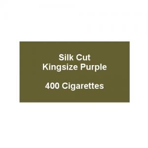 Silk Cut Kingsize Purple - 20 packs of 20 cigarettes (400)