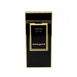 Silver Match Black and Gold USB Lighter