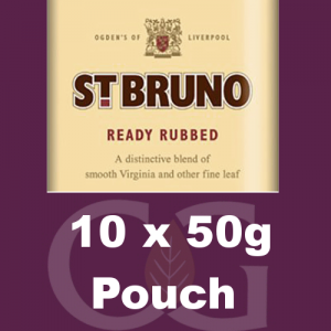 St. Bruno Ready Rubbed Pipe Tobacco 10x50g Pouches