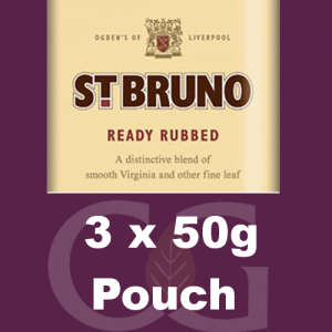St. Bruno Ready Rubbed Pipe Tobacco 3x50g Pouches