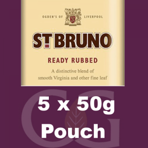 St. Bruno Ready Rubbed Pipe Tobacco 5x50g Pouches