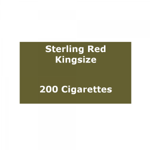 Sterling Original Red Kingsize - 10 Packs of 20 Cigarettes (200)