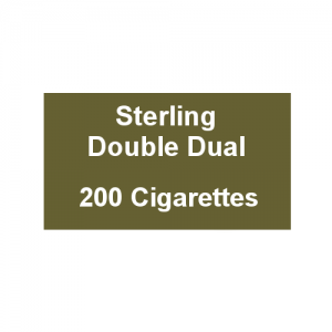 Sterling Double Dual Capsule - 10 Packs of 20 Cigarettes (200)