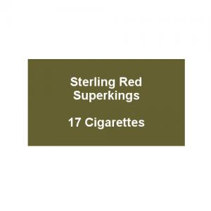 Sterling Red Superkings  - 1 Pack of 17 Cigarettes (17)