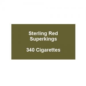 Sterling Original Red Kingsize - 20 Packs of 20 Cigarettes (340)