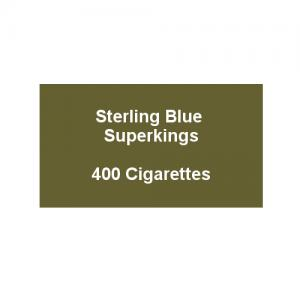 Sterling Blue Superkings - 20 Packs of 20 Cigarettes (400)