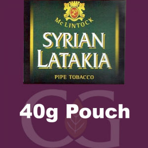 McLintock Syrian Latakia Pipe Tobacco 40g Pouch