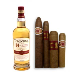Valentines Day Tomintoul 14 Year Old Single Malt Whisky + Cigars Pairing Sampler