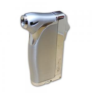 Vector Dupla Dual Jet Cigar Lighter - Satin Chrome