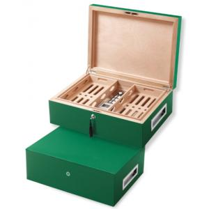 Villa Spa Cigar Humidor – up to 200 Cigar Capacity – Green