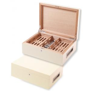 Villa Spa Cigar Humidor – up to 200 Cigar Capacity – White