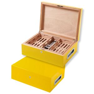 Villa Spa Cigar Humidor – up to 200 Cigar Capacity – Yellow