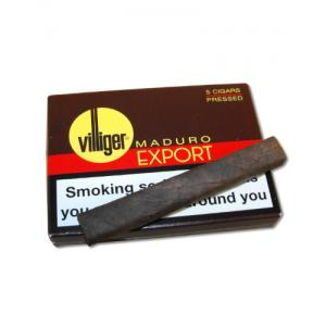 Villiger Export Pressed Cigar - MADURO – Pack of 5