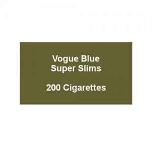 Vogue Blue Superslims - 10 Packs of 20 cigarettes (200)