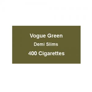 Vogue Green Demi Slims - 20 Packs of 20 cigarettes (400) - End of Line