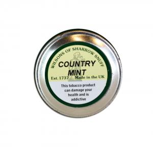 Wilsons of Sharrow - Country Mint Snuff - Medium Tin - 10g (END OF LINE)