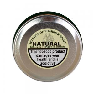 Wilsons of Sharrow - Natural Snuff - Large Tin - 20g (END OF LINE)