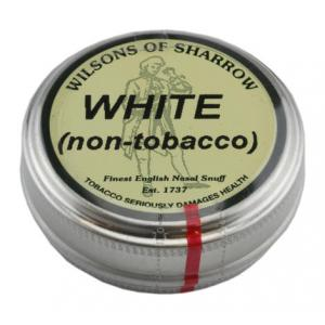 Wilsons of Sharrow - White (non-tobacco) Snuff - Medium Tin - 10g