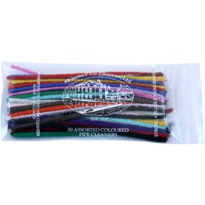 Wilsons of Sharrow Pipe Cleaners Multi Coloured Straight - Pack of 50