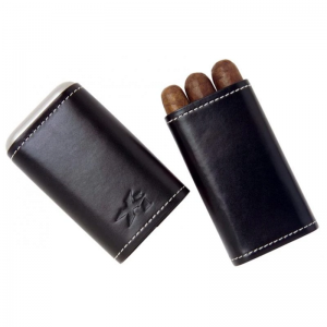 Xikar Leather Cigar Case - 3 Cigars - Black