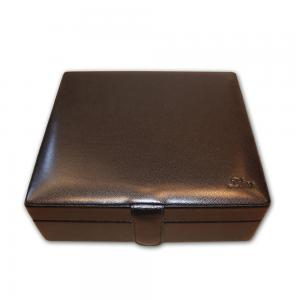 Zino Black Leather Travel Humidor - 20 Cigar Capacity