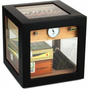 SLIGHT SECONDS - Adorini Cube Deluxe Black Cigar Humidor - 100 Cigar Capacity
