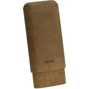 Adorini Leather Brown Cigar Case - 2/3 Cigar Capacity