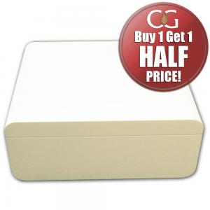 Adorini Carrara Deluxe White Cigar Humidor - Medium - 60 Capacity