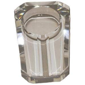 Crystal Cigar Ashtray - Single Cigar Rest