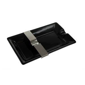 Black Cigar Ashtray With Moveable Rest